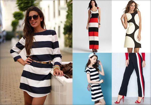 Moda - Garderoba de vară (buline mari, benzi laterale, dungi late)